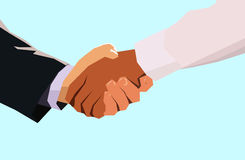 Handshake. A confident angular business handshake Stock Photo