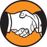 Handshake. Hand shake illustration for your design Stock Photography