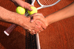 Handshake. After tennis match Royalty Free Stock Photography