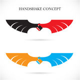Handshake abstract design concept template Stock Images