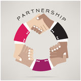 Handshake abstract  design template,Partnership concept Stock Images