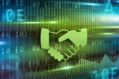 Handshake abstract Stock Image