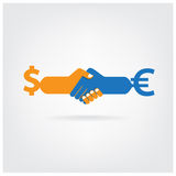 Handshake abstract sign Stock Images