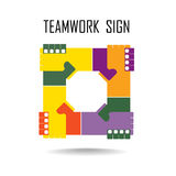 Handshake abstract sign  design template. Business Stock Images
