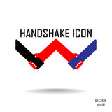 Handshake abstract sign  design template. Business creative concept. Deal, contract, team, cooperation symbol icon Royalty Free Stock Photo