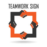 Handshake abstract sign design template. Business. Creative concept. Deal, contract, team, cooperation symbol icon stock illustration