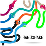 Handshake abstract sign  design template. Business Royalty Free Stock Photos