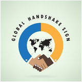 Handshake abstract sign vector design template. Business creativ Stock Image