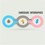 Handshake abstract sign Stock Photo
