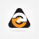 Handshake abstract sign vector design Stock Image
