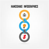 Handshake abstract sign vector design Royalty Free Stock Photography