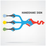 Handshake abstract sign vector design template Royalty Free Stock Image