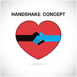 Handshake abstract sign vector design template. Stock Photography