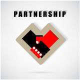 Handshake abstract sign vector design Stock Photography