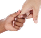 Handshake between an African-American and Caucasia royalty free stock photo