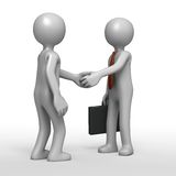 Handshake agreement. Shaking hands with businessman in successful transaction Stock Images