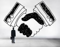 Handshake Agreement Partnership Deal Trust Welcome Concept Stock Image