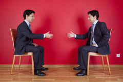 Handshake agreement between two businessman Stock Image