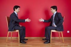 Handshake agreement between two businessman Stock Image