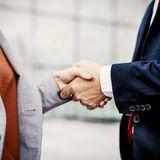 Handshake Analysing Collaboration Colleagues Concept Royalty Free Stock Image