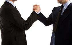 Handshake or Arm Wrestle Royalty Free Stock Photography