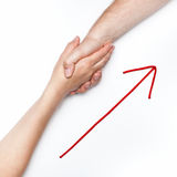 Handshake with arrow Royalty Free Stock Photo