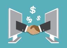 Handshake and bargain Stock Image