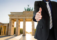 Handshake in Berlin Stock Image
