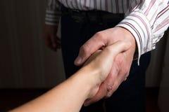 handshake Biznesowego biura pojęcia kopii przestrzeń dla reklamy obrazy royalty free