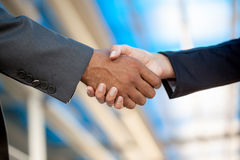 Handshake,blurry background Royalty Free Stock Photography