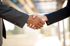 Handshake,blurry background Stock Image