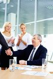 Handshake of boss Stock Images