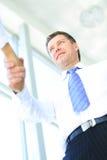 Handshake bottom view Stock Photo