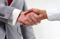 Handshake in business royalty free stock photography