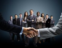 Handshake on business stock images