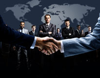 Handshake  on business Royalty Free Stock Photo