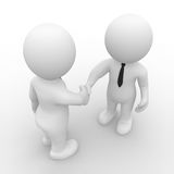 Handshake in business. 3D figure doing handshake in business Royalty Free Stock Images