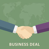 Handshake of Business Deal. Hand of 2 businessman who make a Handshake Royalty Free Stock Photo