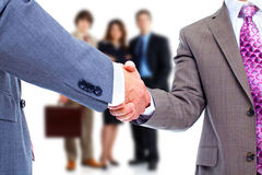 Handshake. Business deal. Handshake. Isolated on white background stock photos