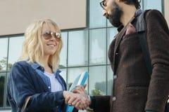 Handshake after business deal Stock Image