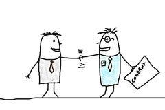 Handshake and business man Stock Photos