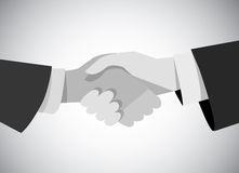 Handshake business man hand gray scale flat. Royalty Free Stock Photography