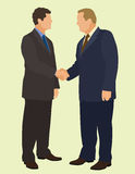 Handshake. Business men shaking hands for a business deal Stock Photos