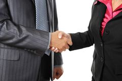 Handshake of business partners. Royalty Free Stock Image