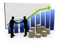 Handshake of business partners Stock Images