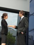 Handshake between business partners Royalty Free Stock Images