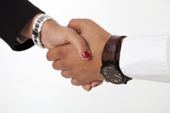 Handshake. Of a business partners Stock Photos