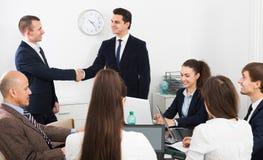 Handshake between business partners Royalty Free Stock Images