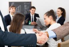 Handshake between business partners Royalty Free Stock Photography
