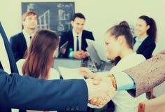 Handshake between business partners Royalty Free Stock Photo